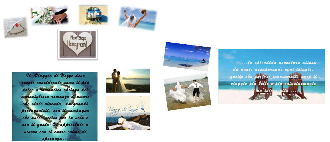 viaggi di nozze organizzati dalla agenzia di viaggi De Cesare a Salerno